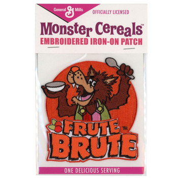 General Mills Frute Brute Wolf Cereal Monster Patch Embroidered Iron On Applique
