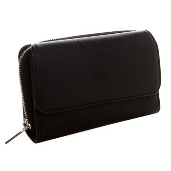 Women's Continental Wallet Black Clutch Zip Around Pocketbook
