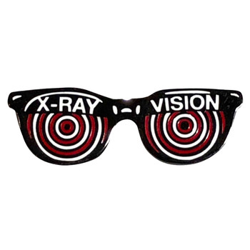 X-Ray Vision Glasses Enamel Pin Ghoulsville Novelty Collectible