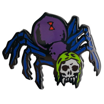 Zombie Hippy Spider Enamel Pin Ghoulsville Novelty Collectible