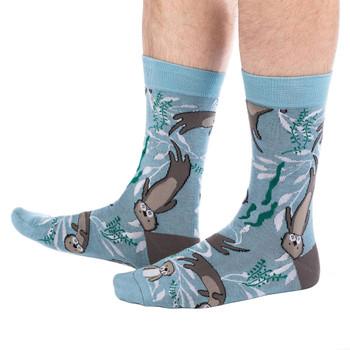 Men's Crew Socks Sea Otters Marine Mammals