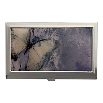 Pale Yellow Monarch Butterfly ID Holder Business Card Case