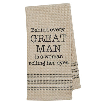 Funny Novelty Cotton Kitchen Dishtowel Great Man
