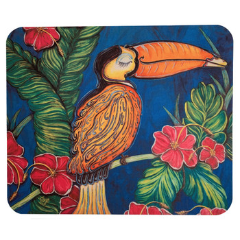 Tropical Toucan Jungle Bird Mouse Pad