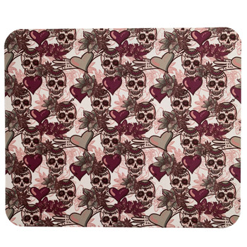 Computer Mouse Pad Day of the Dead Sugar Skulls and Hearts