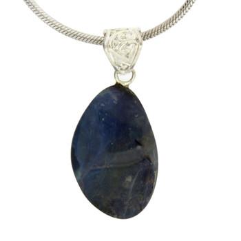 Australian Boulder Opal Sterling Silver Pendant