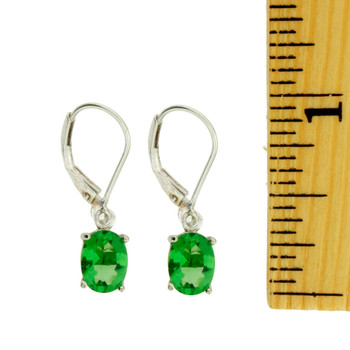 Green Helenite Sterling Silver Earrings