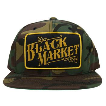 Black Market Art Camo Snap Back Trucker Hat