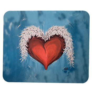 Heart and Wings Mouse Pad