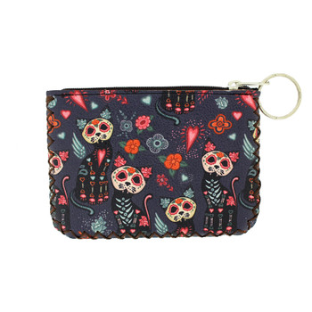 Day of the Dead Cat Coin Purse