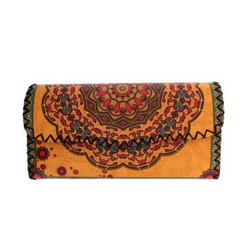 Floral Bohemian Design Yellow Wallet