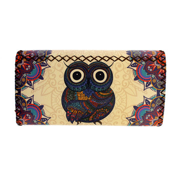 Owl with Colorful Bohemian Style Design Wallet