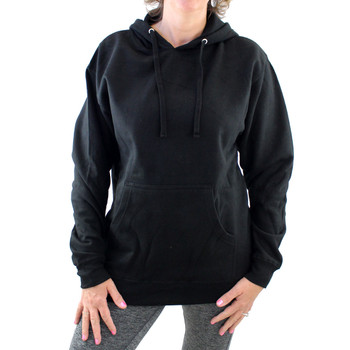 Black Pull Oveer Fleece Hoodie Sweatshirt Cross and Roses