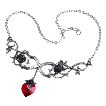 Alchemy Gothic Infinite Love Pendant Necklace Pewter Jewelry P868