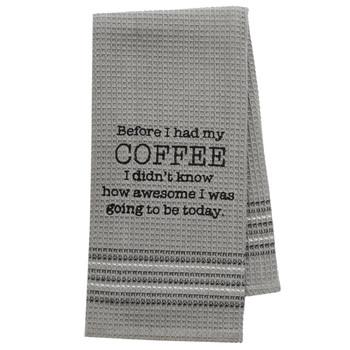 Coffee is Awesome Kitchen Dishtowel