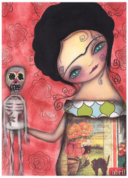 My Puppet by Abril Andrade Fine Art Print Sugar Skull Skeleton