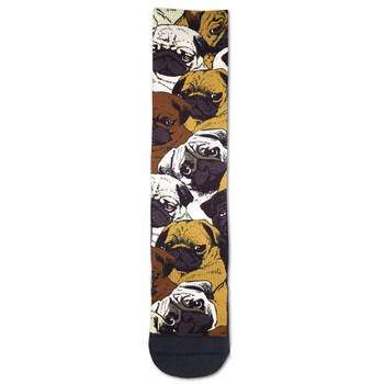 Men's Crew Socks Pugs Pugs Pugs Puppy Dogs