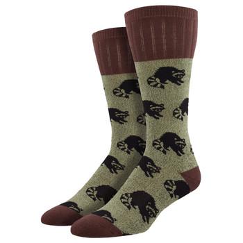 Men's Boot Outdoor Socks Outlands Raccoon Brown