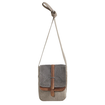 Mona B Purse Women's Up-cycled Canvas Oakley Crossbody Shoulder Bag