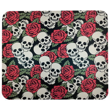 Computer Mouse Pad Desk Accessory Skull and Roses