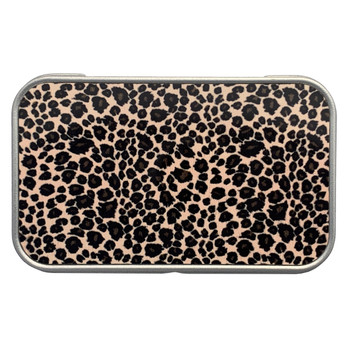 Leopard Animal Print Rectangle Metal Storage Tin Stash Box