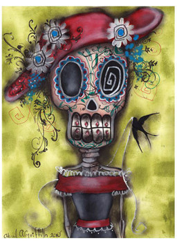 Looking For Love by Abril Andrade Fine Art Sugar Skull