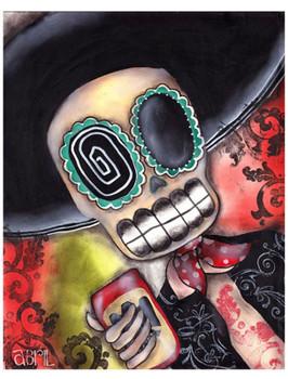 Martin Mariachi by Abril Andrade Fine Art Sugar Skull