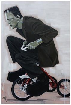 Eat My Dust by Mike Bell Fine Art Print Frankenstein