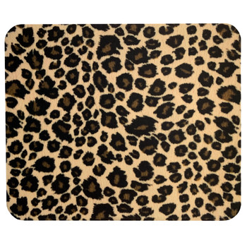 Computer Mouse Pad Desk Accessory Leopard Animal Print