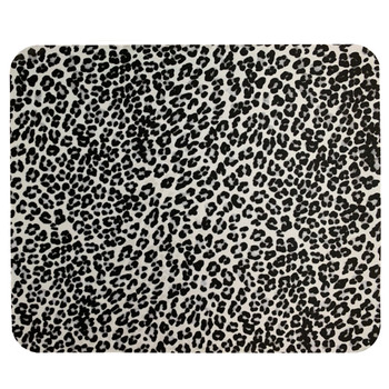 Black and White Leopard Animal Print Mouse Pad
