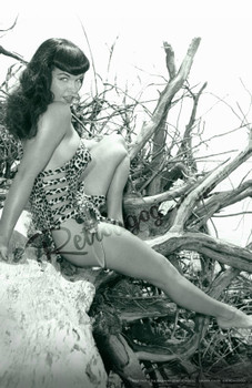 Bettie Page Bombshell Bettie Fine Art Print Rockabilly Pin Up Girl