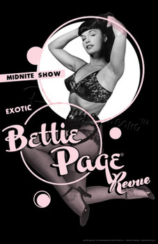 Bettie Page Girlie Revue Fine Art Print Rockabilly Pin Up Girl