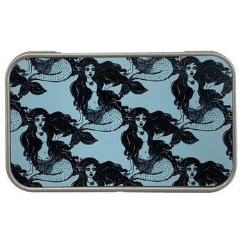 Mermaids Metal Tin Storage Stash Box