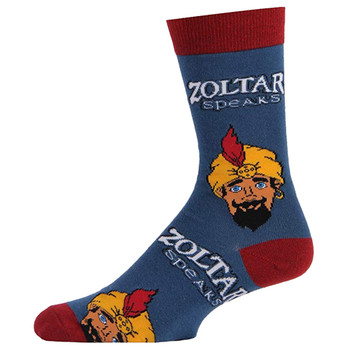 Men's Crew Socks Zoltar Fortune Teller Blue