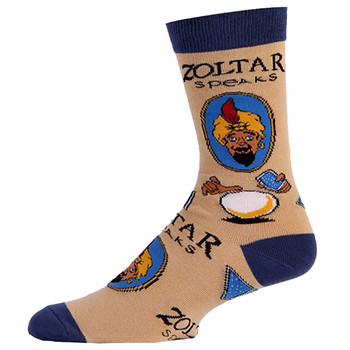Men's Crew Socks Zoltar Fortune Teller Tan
