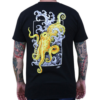 Crawl by Clark North Octopus Men's Black Tee Shirt