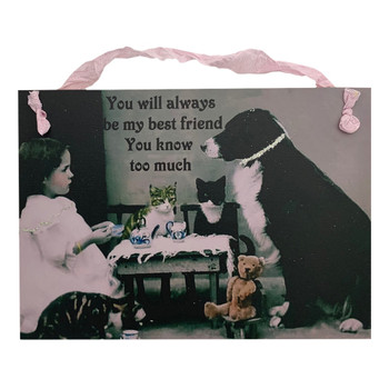Best Friends Decorative Wood Hanging Sign