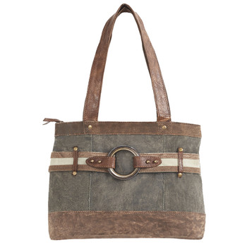 Mona B Canvas Purse Rowen Shoulder Bag front view