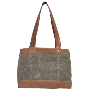 Mona B Canvas Purse Rowen Shoulder Bag back view