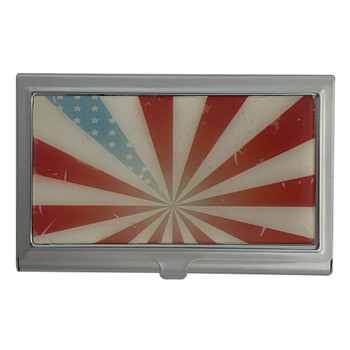 American Flag ID Holder Business Card Case