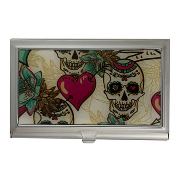Sugar Skull ID Holder Business Card Case