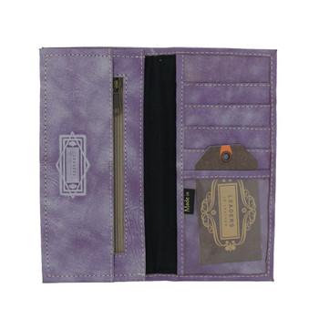 Genuine Leather Mandala Wallet inside view