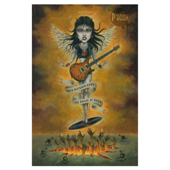 P'gosh Blessed Lady of Rock N' Roll Print