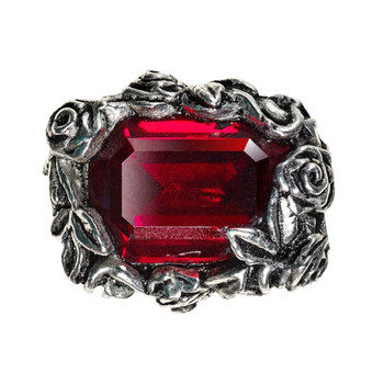 R227 - Blood Rose Ring top view
