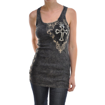 Vocal Apparel Cross and Crown Tank Top
