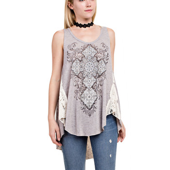 Vocal Apparel Mandala Print Tank Top