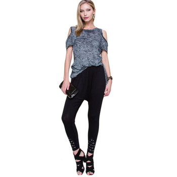 Vocal Apparel Cold Shoulder Short Sleeve Shirt