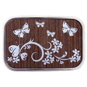 Butterfly stainless steel belt buckle.