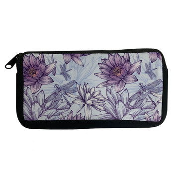 Dragonfly and Water Lilies Cosmetic Case