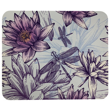 Dragonfly and Water Lilies Mouse Pad